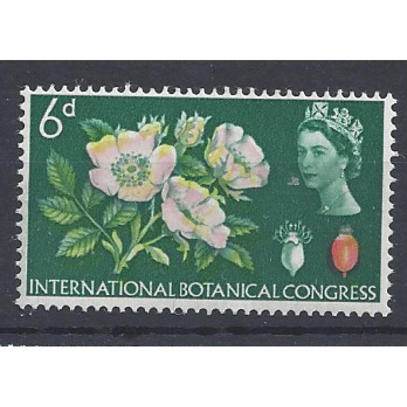 1964  BOTANICAL CONGRESS 6d PINK/SCARLET COLOUR SHIFT